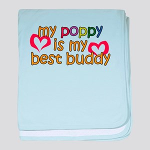 Poppy is My Best Buddy baby blanket